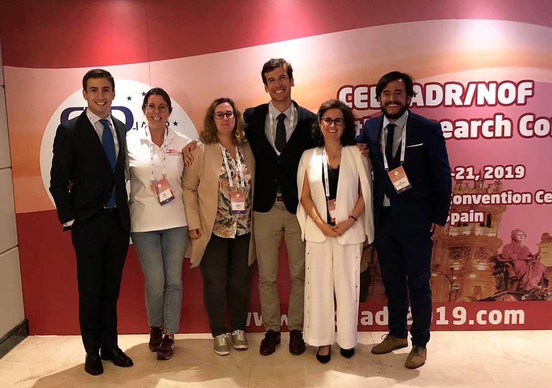 Miembros del CED-IADR en Madrid, entre ellos, el doctor Rafael Pla.