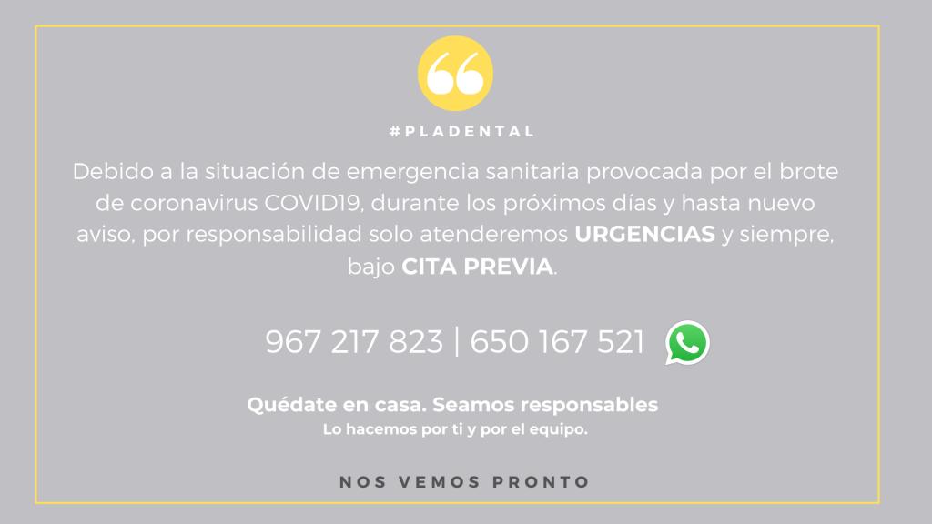 Comunicado COVID19 Clinica Rafael Pla